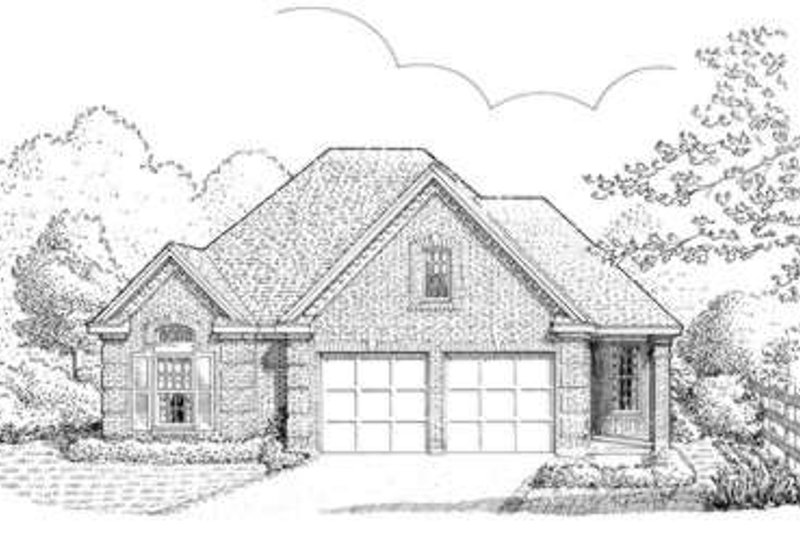 European Exterior - Front Elevation Plan #410-245