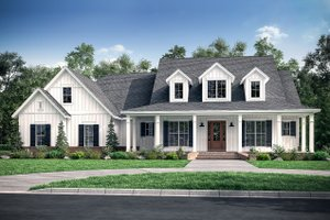 Home Plan Design - Farmhouse Exterior - Front Elevation Plan #430-175