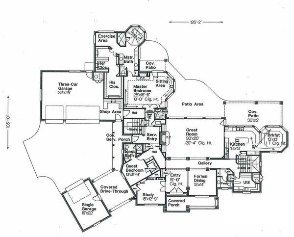 European Floor Plan - Main Floor Plan Plan #310-670