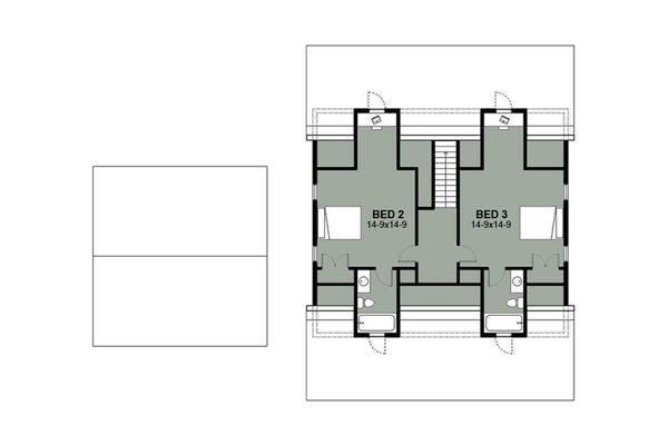 Farmhouse Floor Plan - Upper Floor Plan Plan #497-8