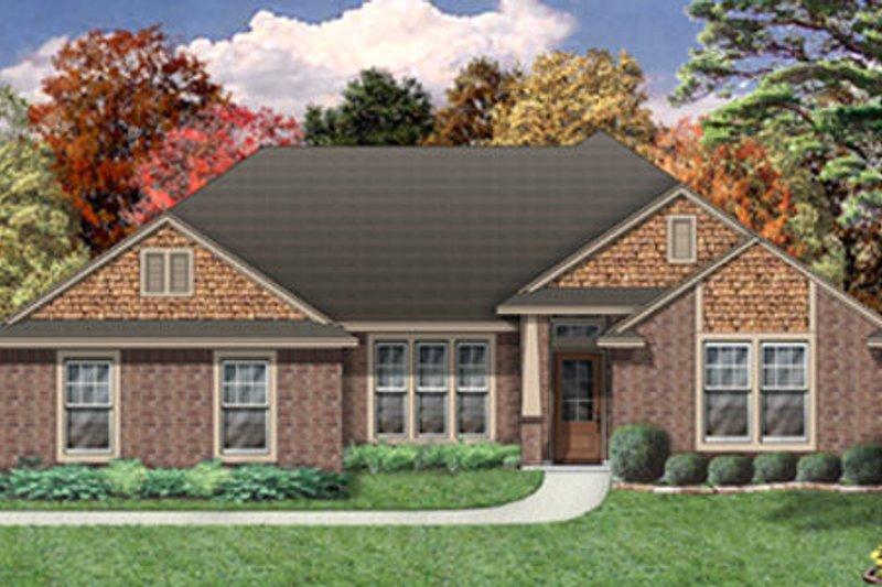 Dream House Plan - Bungalow Exterior - Front Elevation Plan #84-477
