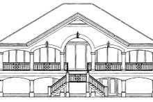 House Plan Design - Mediterranean Exterior - Rear Elevation Plan #930-161