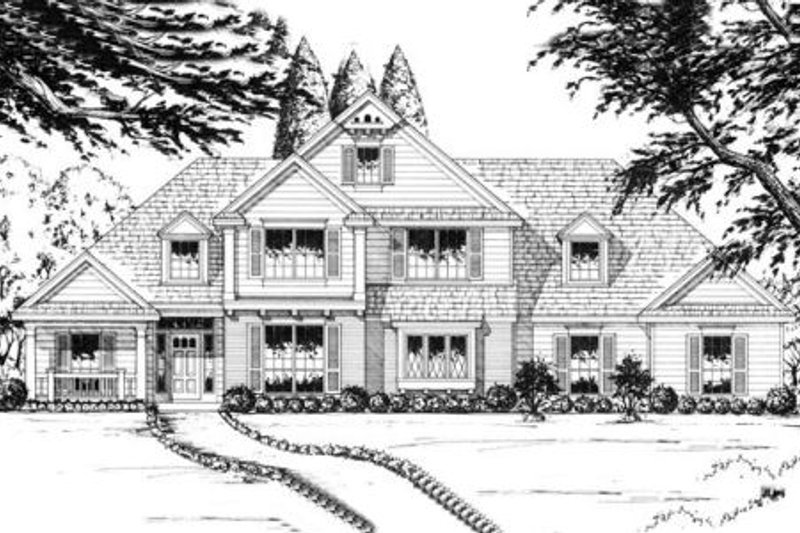 Traditional Exterior - Front Elevation Plan #40-260 - Houseplans.com
