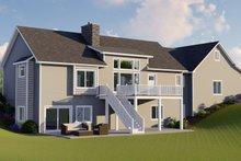 Dream House Plan - Ranch Exterior - Rear Elevation Plan #1064-31