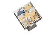 European Style House Plan - 3 Beds 1 Baths 1367 Sq/Ft Plan #25-4711 Floor Plan - Upper Floor Plan