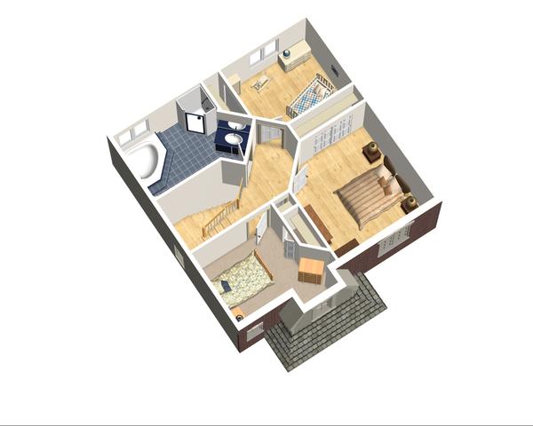 European Floor Plan - Upper Floor Plan Plan #25-4711