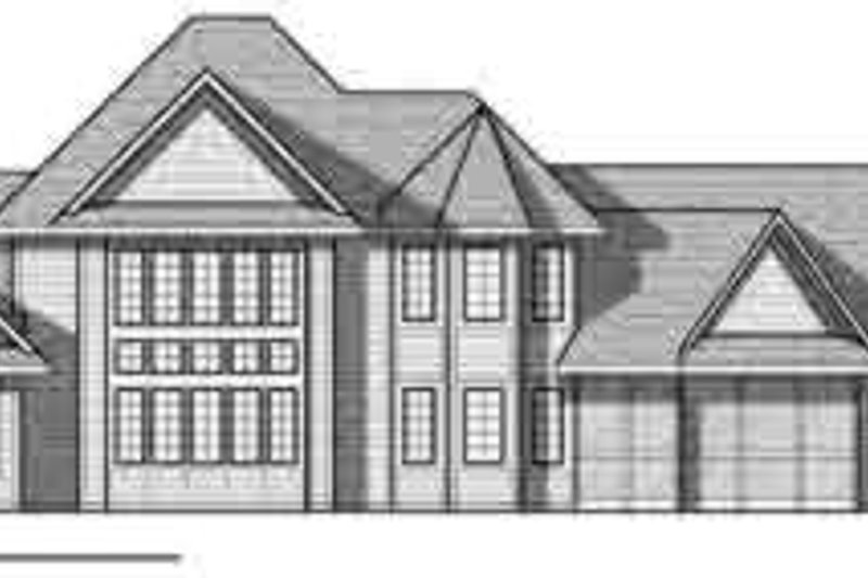 European Exterior - Rear Elevation Plan #70-848 - Houseplans.com