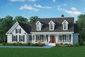 Country Exterior - Front Elevation Plan #929-224