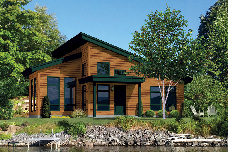 Contemporary Style House Plan - 2 Beds 1 Baths 850 Sq/Ft Plan #25-4382