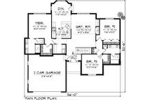 Ranch Floor Plan - Main Floor Plan Plan #70-1044