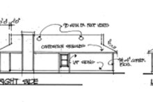 House Plan Design - Cottage Exterior - Rear Elevation Plan #56-104