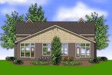 Dream House Plan - Craftsman Exterior - Rear Elevation Plan #48-566
