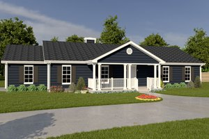 Architectural House Design - Ranch Exterior - Front Elevation Plan #57-108