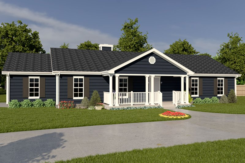 House Plan Design - Ranch Exterior - Front Elevation Plan #57-108