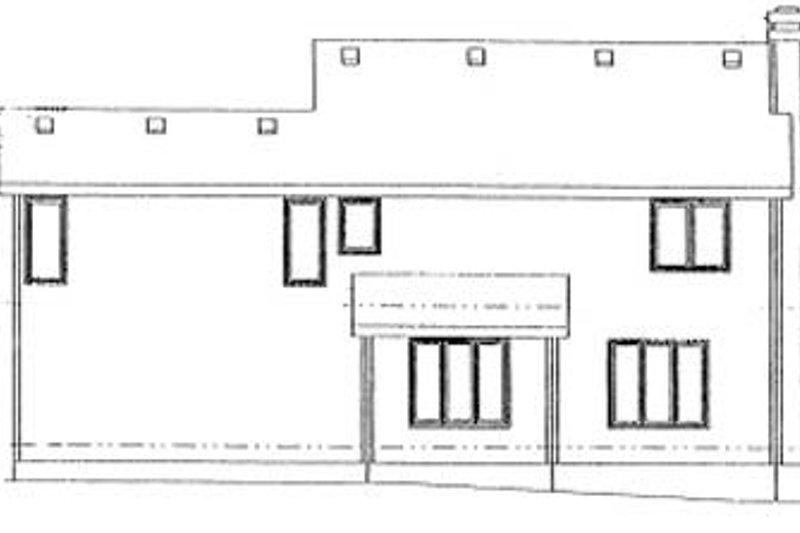Traditional Exterior - Rear Elevation Plan #20-601 - Houseplans.com