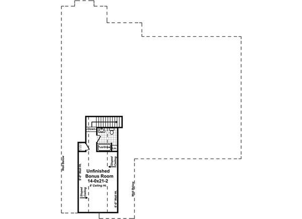 Country Floor Plan - Upper Floor Plan Plan #21-378