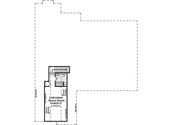 Country Floor Plan - Upper Floor Plan Plan #21-378