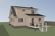 Southern Style House Plan - 3 Beds 2.5 Baths 1520 Sq/Ft Plan #79-212 Exterior - Rear Elevation