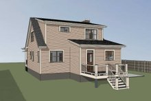 Southern Exterior - Rear Elevation Plan #79-212