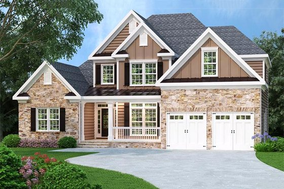 Traditional Exterior - Front Elevation Plan #419-118