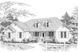 Architectural House Design - Traditional Exterior - Front Elevation Plan #10-101