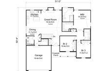 Ranch Floor Plan - Main Floor Plan Plan #22-522