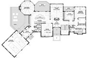 Traditional Style House Plan - 4 Beds 3.5 Baths 2967 Sq/Ft Plan #928-332 Floor Plan - Main Floor Plan