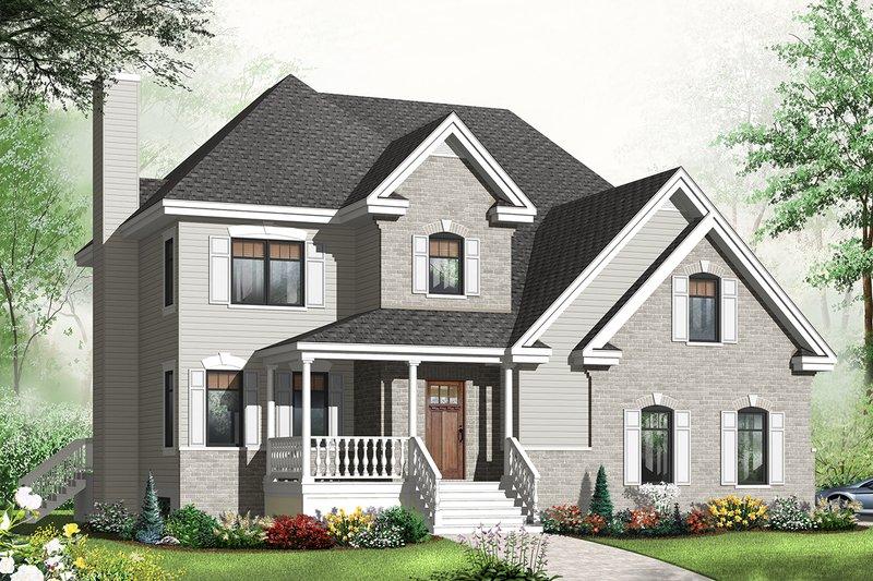 Dream House Plan - European Exterior - Front Elevation Plan #23-2544
