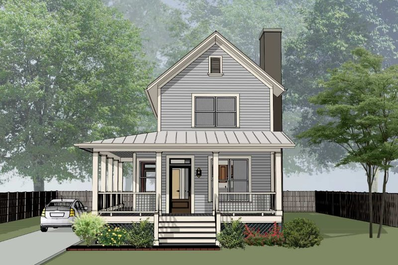 Country Style House Plan - 3 Beds 2 Baths 1414 Sq/Ft Plan #79-270 Exterior - Front Elevation