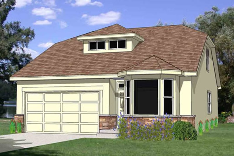 Craftsman Style House Plan - 3 Beds 2.5 Baths 1689 Sq/Ft Plan #116-275 Exterior - Front Elevation