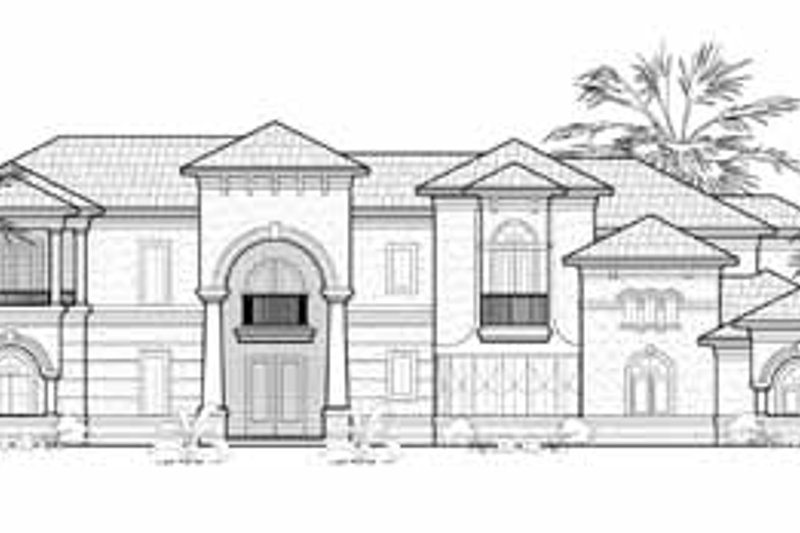 European Exterior - Front Elevation Plan #61-194 - Houseplans.com