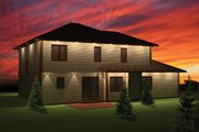 Mediterranean Style House Plan - 4 Beds 2.5 Baths 2189 Sq/Ft Plan #70-1095 Exterior - Rear Elevation