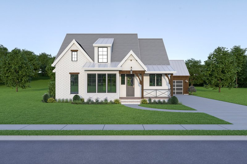 Farmhouse Exterior - Front Elevation Plan #1070-102