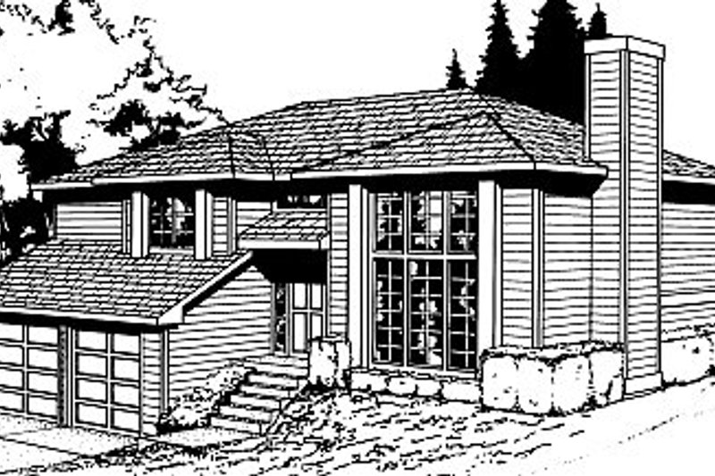 Traditional Style House Plan - 4 Beds 3 Baths 1143 Sq/Ft Plan #87-301 Exterior - Front Elevation