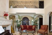 Mediterranean Style House Plan - 6 Beds 7.5 Baths 7100 Sq/Ft Plan #420-196 Interior - Family Room