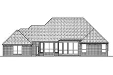 Dream House Plan - Traditional Exterior - Rear Elevation Plan #84-384