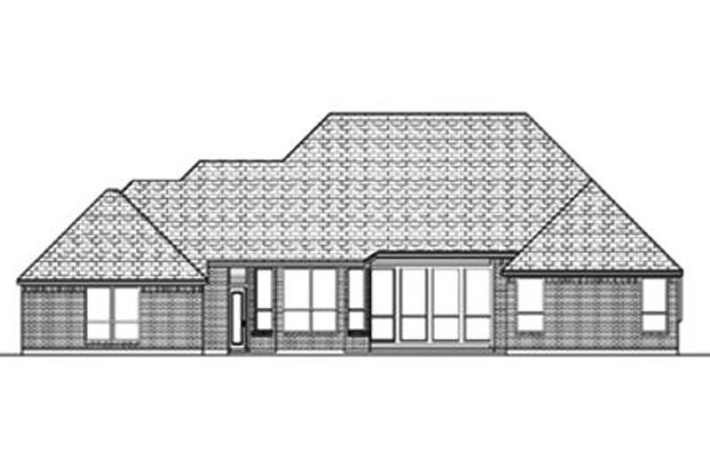 Traditional Exterior - Rear Elevation Plan #84-384 - Houseplans.com