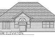 Traditional Style House Plan - 3 Beds 2 Baths 1387 Sq/Ft Plan #70-123 Exterior - Rear Elevation