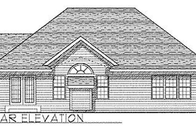 Traditional Exterior - Rear Elevation Plan #70-123 - Houseplans.com