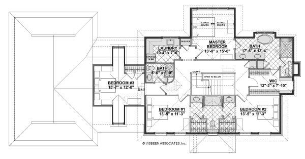 Cottage Floor Plan - Upper Floor Plan Plan #928-327