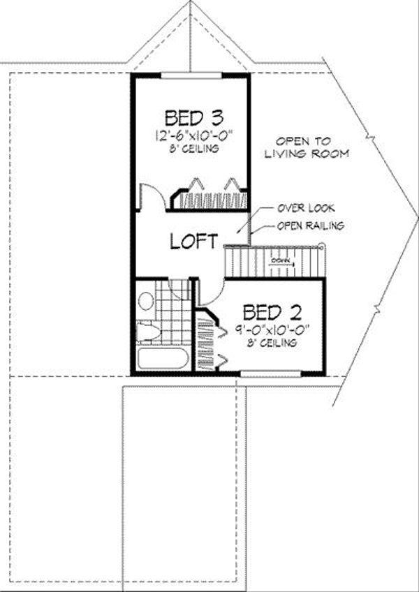 European Floor Plan - Upper Floor Plan Plan #320-149