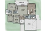 Traditional Style House Plan - 3 Beds 2.5 Baths 1608 Sq/Ft Plan #5-110 Floor Plan - Main Floor Plan
