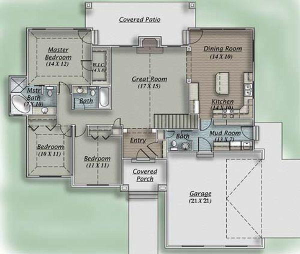 Traditional Floor Plan - Main Floor Plan #5-110