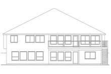 Dream House Plan - Mediterranean Exterior - Rear Elevation Plan #126-229
