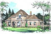 European Style House Plan - 4 Beds 3 Baths 3690 Sq/Ft Plan #15-291 Exterior - Front Elevation
