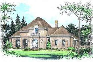 Dream House Plan - European Exterior - Front Elevation Plan #15-291
