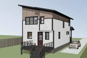 Modern Style House Plan - 3 Beds 2.5 Baths 1457 Sq/Ft Plan #79-321