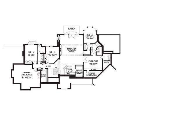 European Floor Plan - Lower Floor Plan Plan #48-654
