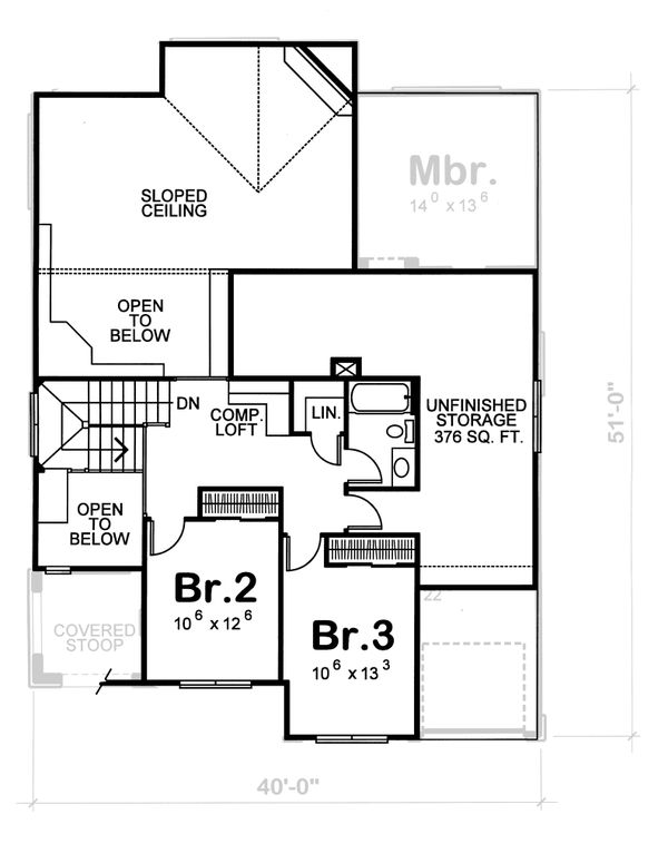 Home Plan Design - European Floor Plan - Upper Floor Plan #20-1231