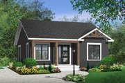 Cottage Style House Plan - 2 Beds 1 Baths 835 Sq/Ft Plan #23-2198